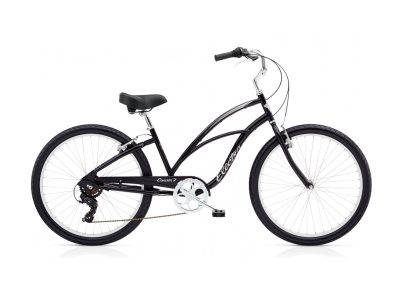Electra Cruiser 7D (steel frame, black, step-thru, 7-speed)
