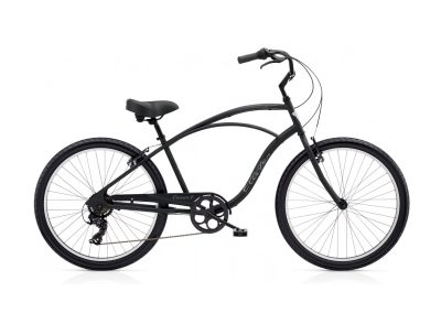 Electra Cruiser 7D (steel frame, matte black, 7-speed)