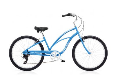 Electra Cruiser 7D (steel frame, French Blue, step-thru, 7-speed)