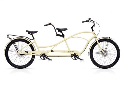 Electra Tandem 7i Cruiser Bike For Two matte cream color