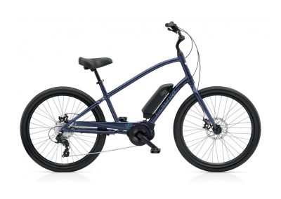 electric bicycle electra townie go 8D blue mens bike